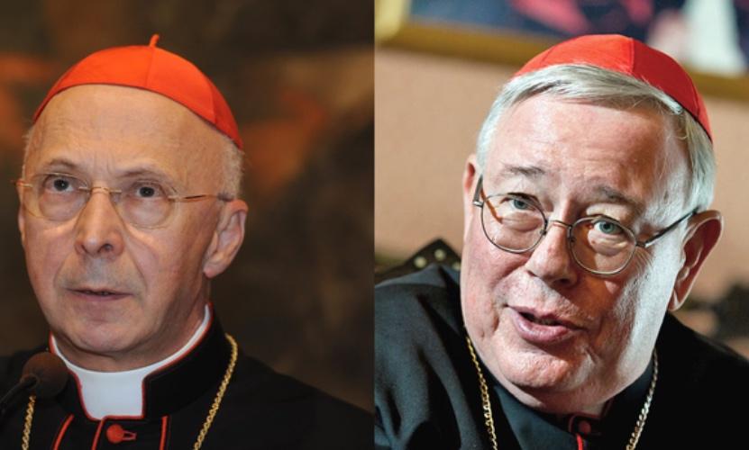 Cardenal Bagnasco (izda) y Cardenal Hollerich (dcha) © COMECE