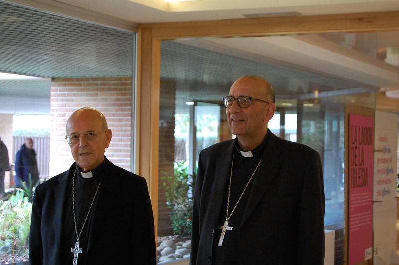 El cardenal Omella, a la dcha, acompañado por el cardenal Blázquez © Conferencia Episcopal Española