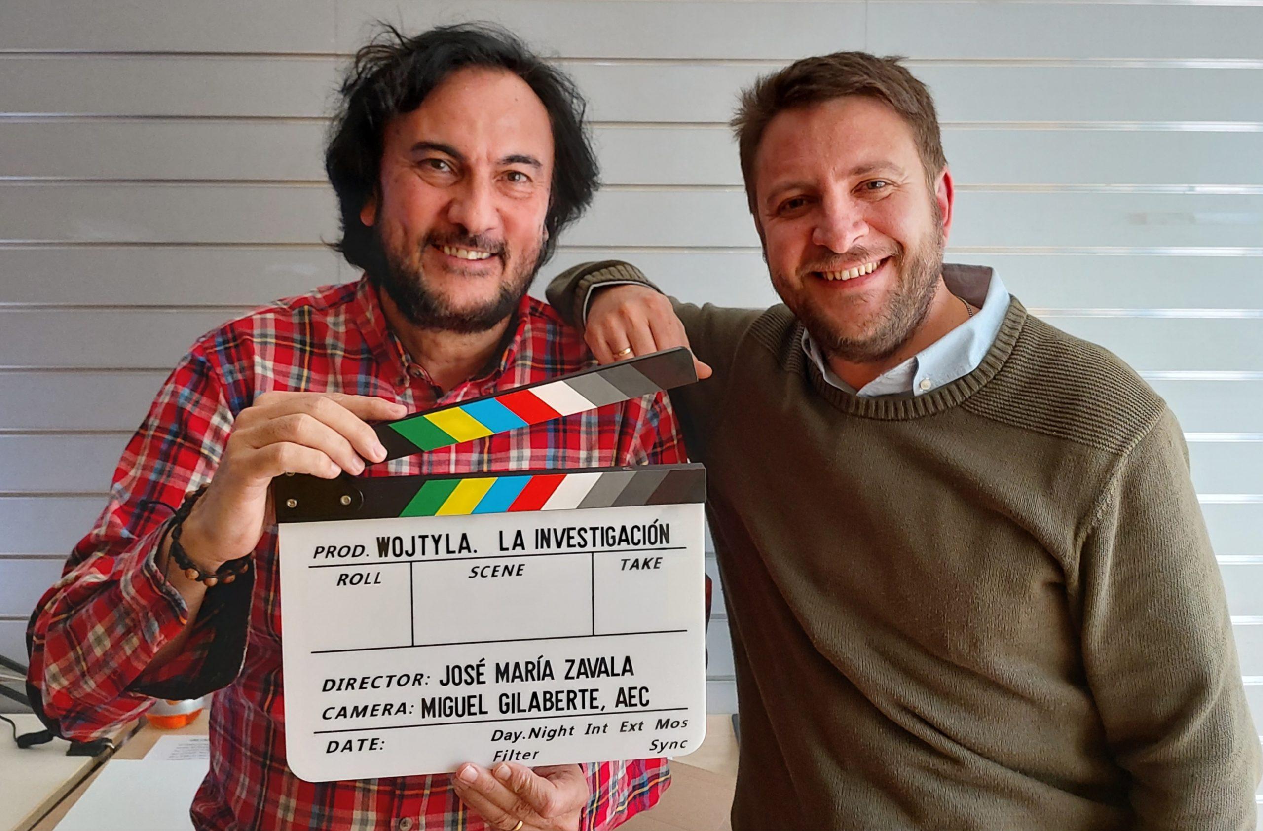 El director José María Zavala con Miguel Gilaberte, director de fotografía © JM. Z.
