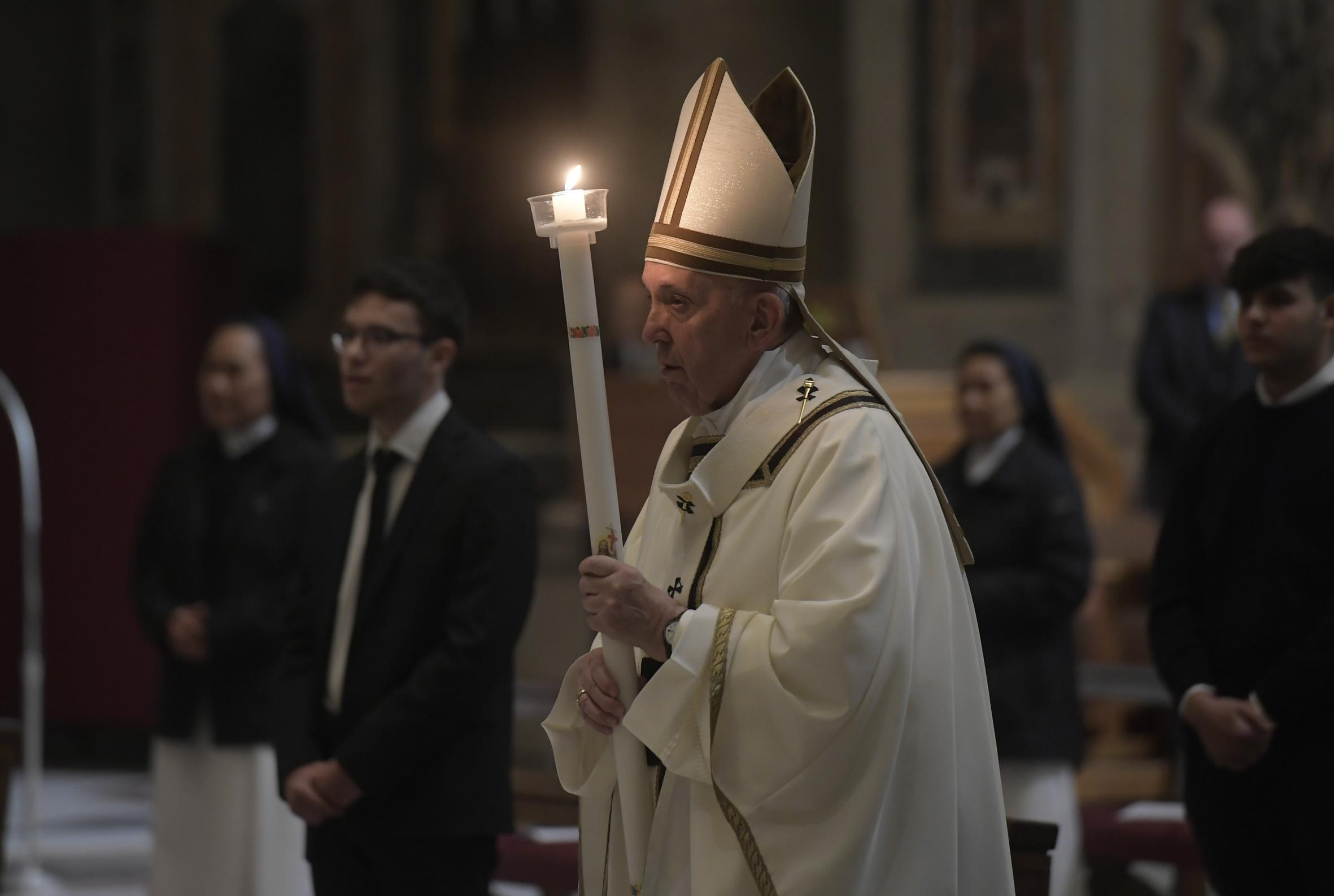 Vigilia Pascual, 11 abril 2020 © Vatican Media