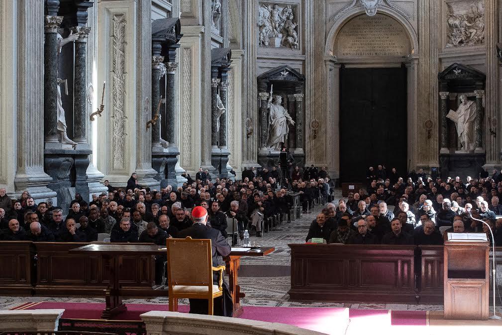 Célébration pénitentielle des prêtres de Rome 2020 © Vatican Media