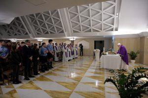 Messe à Sainte-Marthe, 28 février 2020 © Vatican Media