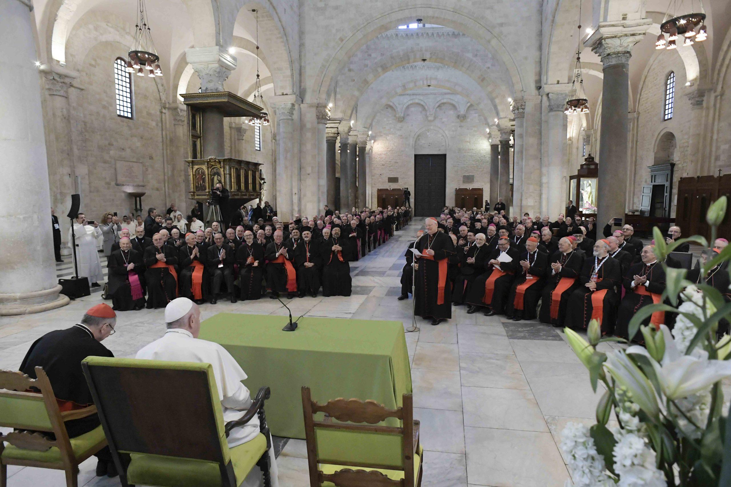 Rencontre avec les évêques de la Méditerranée à Bari, 23 février 2020 © Vatican Media