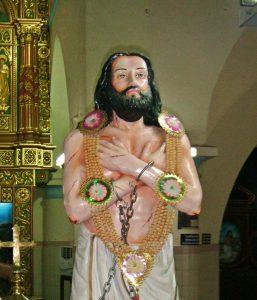 Statue de Lazare Pillai, cathédrale de Kottar (Inde) @ wikimedia commons / Kumbalam
