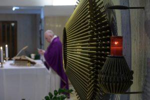 Messe du 13 mars 2020 à Sainte-Marthe © Vatican Media