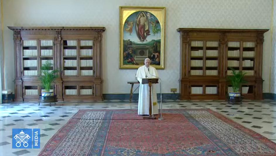 Angélus du 22 mars 2020, capture Vatican Media