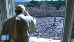 Angélus du 8 mars 2020, capture Vatican Media