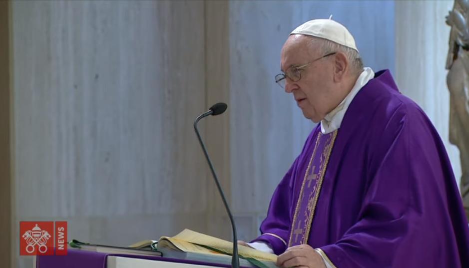 Sainte Marthe, messe du 20 mars 2020, capture Vatican News