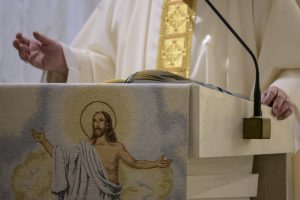 Messe à Sainte-Marthe, 18 avril 2020 © Vatican Media