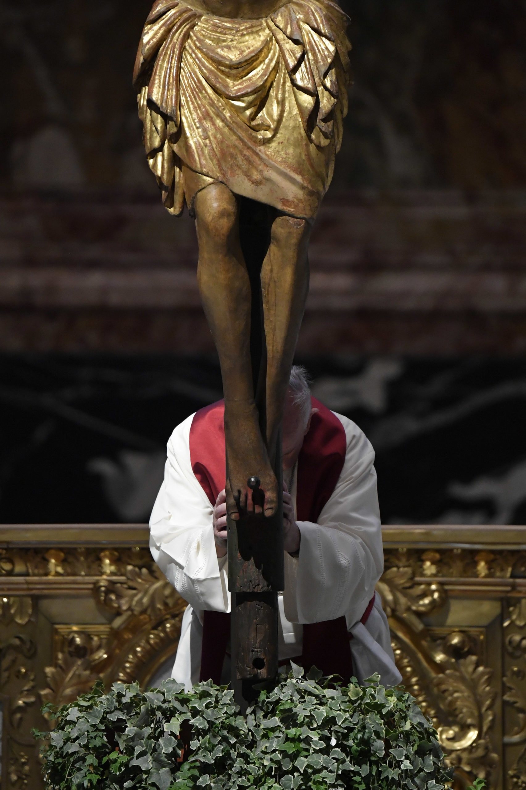 Célébration de la Passion, Vendredi Saint, 10 avril 2020 © Vatican Media
