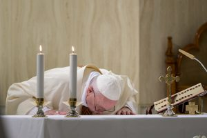 Messe à Sainte-Marthe, 20 avril 2020 © Vatican Media